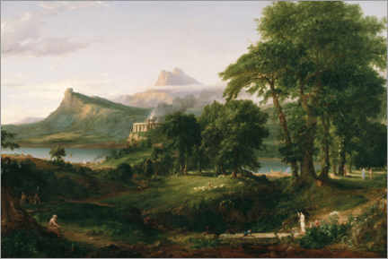 Obraz na płótnie  The Course of Empire The Arcadian or Pastoral State - Thomas Cole