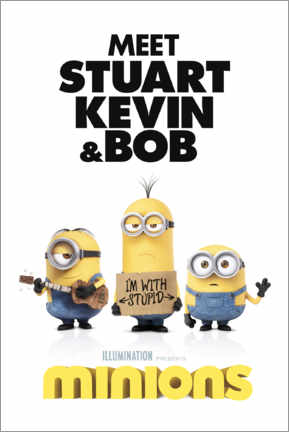 Plakat  Minions - I'm with stupid