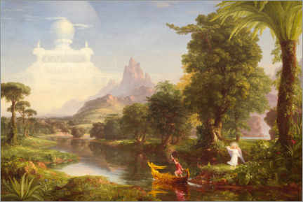 Obraz na drewnie  The journey of life, the youth - Thomas Cole