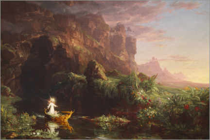 Obraz na drewnie  The journey of life, childhood - Thomas Cole