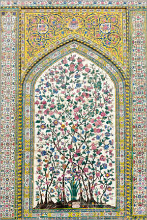 Obraz na aluminium  Floral pattern, Wakil Mosque - Stefan Auth