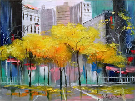 Plakat  Autumn in Chicago - Olha Darchuk