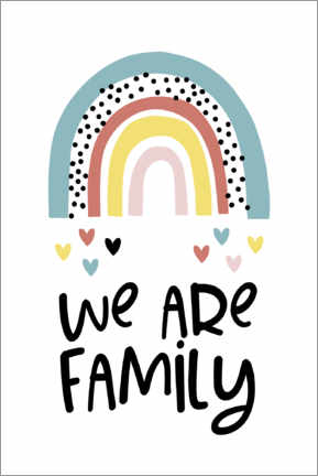 Plakat We are family - rainbow