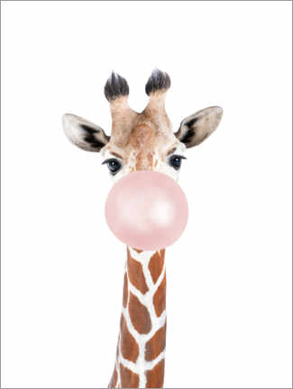 Obraz na aluminium  Bubble gum Giraffe - Sisi And Seb