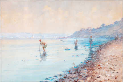 Obraz na płótnie  Low tide in Turkey - Fausto Zonaro