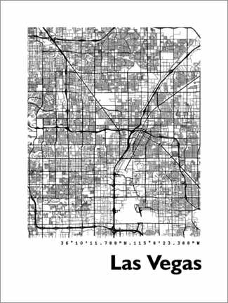 Obraz na płótnie  Las Vegas city map - 44spaces