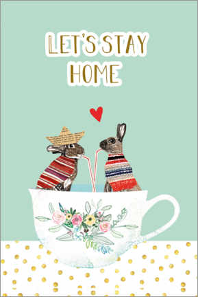 Plakat  Let's stay home - GreenNest