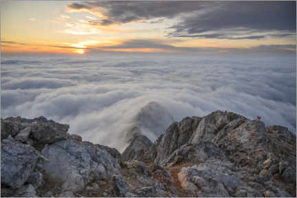 Obraz na szkle akrylowym  Sea of clouds on Triglav mountain, Slovenia - Ulrich Beinert
