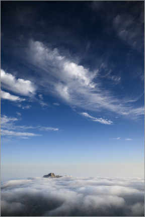Naklejka na ścianę  Sea of clouds on the mountain top - Ulrich Beinert