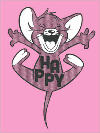Plakat Happy Jerry Pink