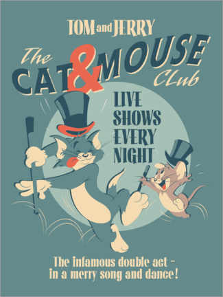 Obraz na drewnie  Tom and Jerry - Cat and Mouse Club