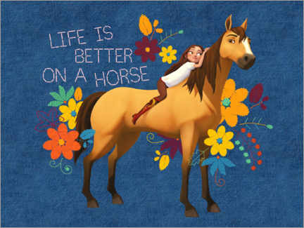 Plakat  Life is better on a horse