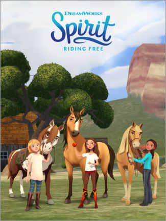 Plakat Spirit Riding Free - Trio (Mustang)