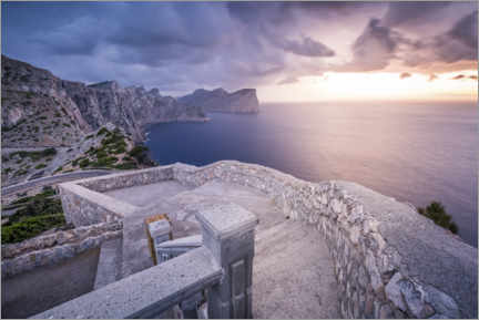 Naklejka na ścianę  Sunset after a storm at Cap Formentor - Kristian Goretzki