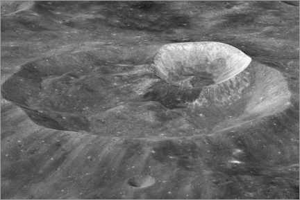 Obraz na płótnie  Joule-T and Wargo craters of the moon - NASA