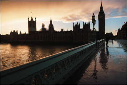 Plakat Sunset over Houses of Parliament and Big Ben