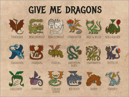 Gallery print  Give me dragons