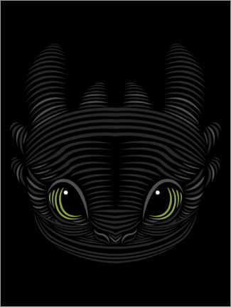 Gallery print  Toothless