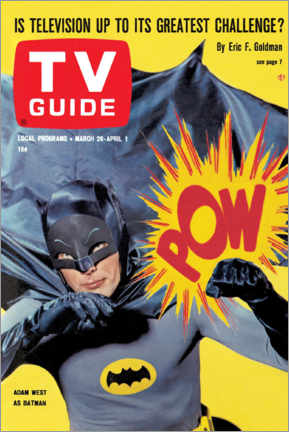 Plakat  Batman - TV Guide Cover 1966 - TV Guide