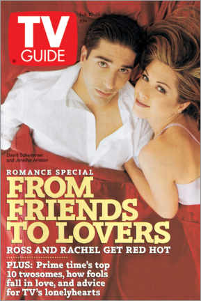 Plakat Ross and Rachel - Friends to lovers