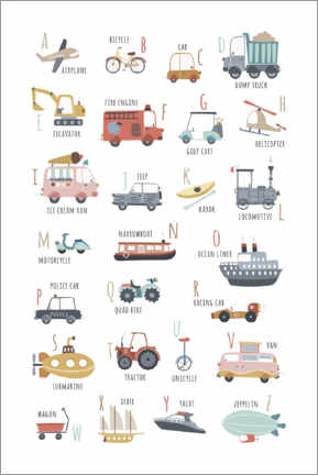 Gallery print  My vehicles ABC (english) - Marta Munte