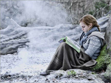 Obraz na aluminium  The Deathly Hallows I - Hermione with her book