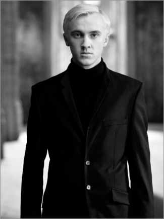 Plakat The Half-Blood Prince - Draco Malfoy bw portrait