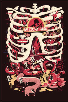 Gallery print  Rick and Morty - Anatomy Park