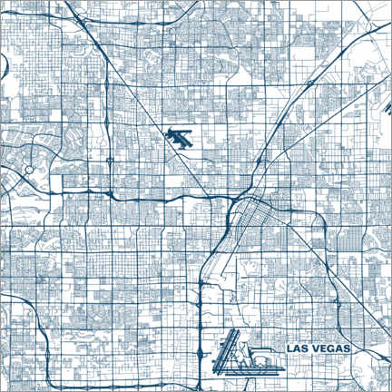 Obraz na płótnie  Map of Las Vegas - 44spaces