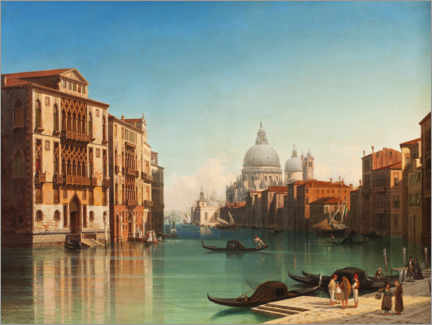 Plakat View of the Grand Canal in Venice