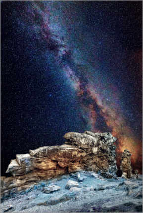 Plakat Milky Way over the Devil's Wall