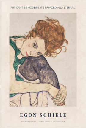 Plakat Schiele - Primordially eternal