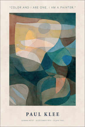 Obraz na PCV  Paul Klee - Color and I - Museum Art Edition