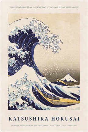 Plakat  Hokusai - Five more years - Museum Art Edition