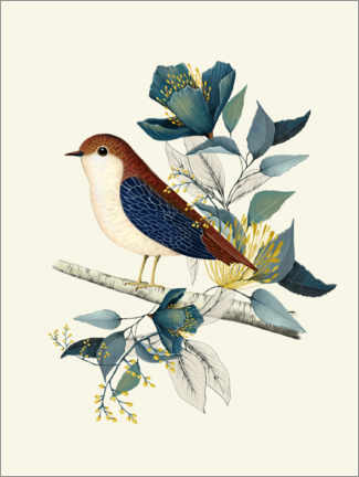 Plakat Floral with bird I