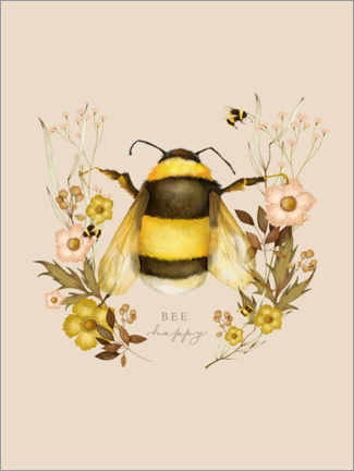Plakat Floral with bee