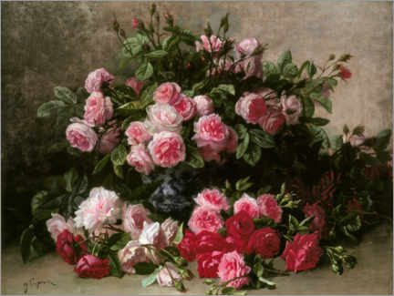 Obraz na płótnie  Still life with pink and red roses - Jean Capeinick