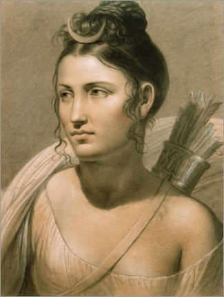 Plakat  Young woman as Diana - Jozef Frans Ducq