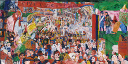 Gallery print  The entry of Christ into Brussels - James Ensor