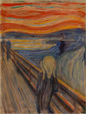 Obraz na płótnie  The Scream 1893 - Edvard Munch