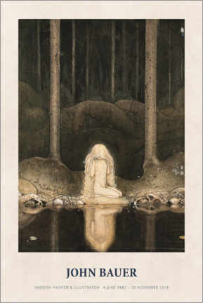 Plakat  John Bauer - Princess Tuvstarr gazing down - Museum Art Edition