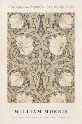 Plakat  William Morris - Life and love - Museum Art Edition
