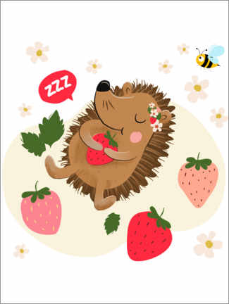 Plakat Strawberry hedgehog