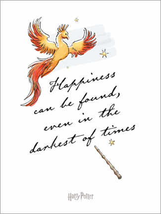Plakat Happiness can be found - Harry Potter Quote