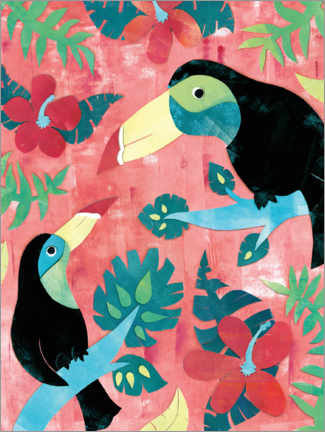 Plakat Two toucans