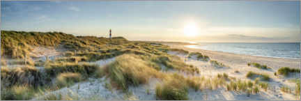 Obraz na aluminium  Dune beach panorama on Sylt - Jan Christopher Becke