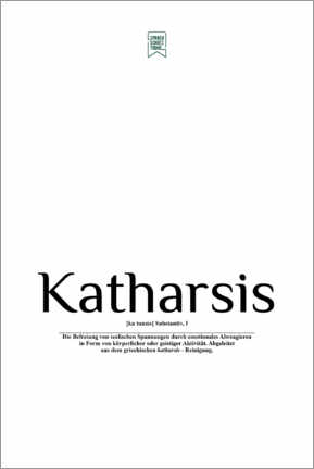 Gallery print  Beautiful words - Catharsis (German) - Sprachschatztruhe
