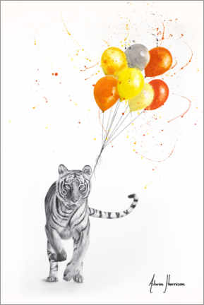 Plakat The Tiger and The Balloons