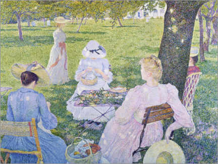 Plakat  Family in the orchard - Theo van Rysselberghe