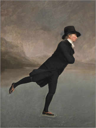 Obraz na drewnie  Pastor Robert Walker ice skating - Henry Raeburn